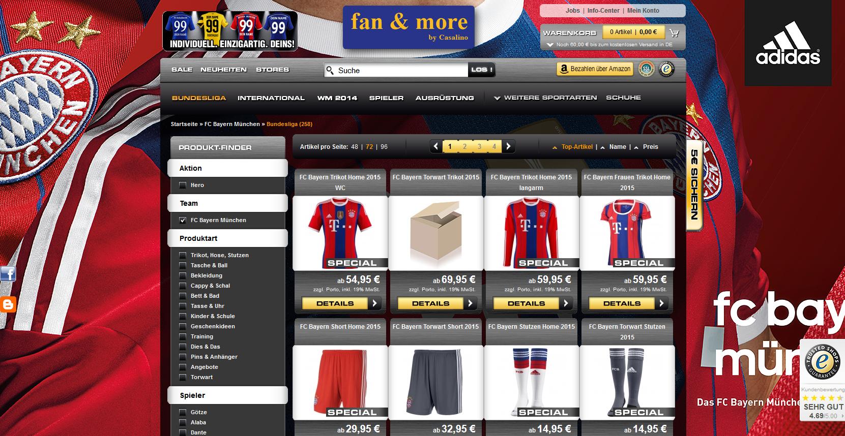 Fußball-Fanartikel kaufen
