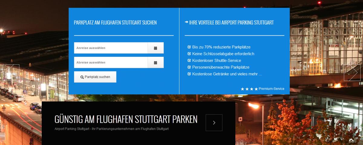 Stuttgart am Flughafen parken